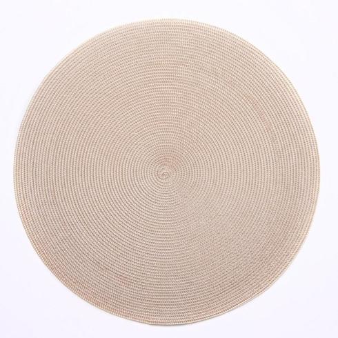 """Deborah Rhodes   Sand 15"""" Round Placemat $20.00"""