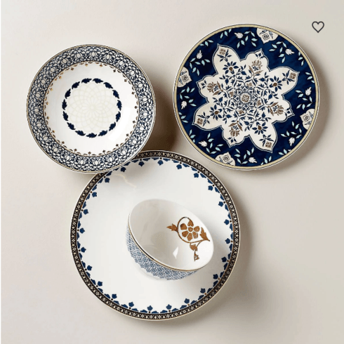 $69.95 Global Tapestry 4 Piece Place Setting Sapphire