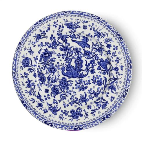 Burleigh Pottery   Blue Regal Peacock Salad Plate $28.00