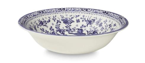 """Burleigh Pottery   Blue Regal Peacock Soup Bowl 8"""" $30.00"""
