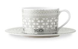 Caskata   Hawthorne Ice Teacup & Saucer $95.00