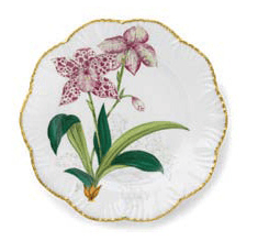 Ivy House Exclusives   Pinto Paris Histories d\'Orchidees Dinner Plate Pink $350.00