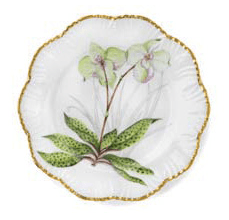 Ivy House Exclusives   Pinto Paris Histories d\'Orchidees Dinner Plate Green $350.00