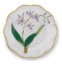 Ivy House Exclusives   Pinto Paris Histories D\'Orchidees Dinner Plate Purple $350.00