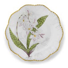 Ivy House Exclusives   Pinto Paris Histories d\'Orchidees Dinner Plate White $350.00
