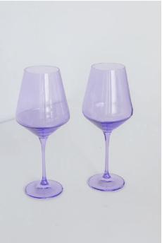 Estelle Colored Glass   Wine Lavender (Set/2) $75.00