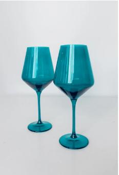 Estelle Colored Glass   Wine Emerald Green (Set/2) $75.00