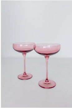 $85.00 Champagne Coupe Rose (Set/2)