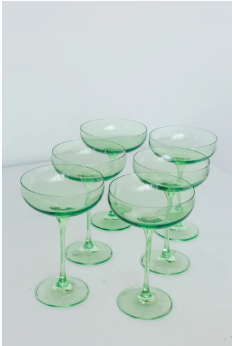 $195.00 Champagne Coupe Mint Green (Set/6)