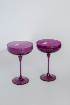 $85.00 Champagne Coupe Amethyst (Set/2)