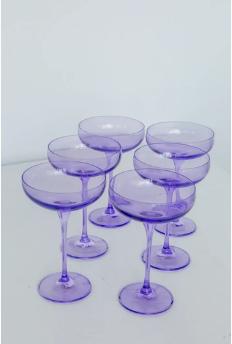 $195.00 Champagne Coupe Blush Lavender (Set/6)