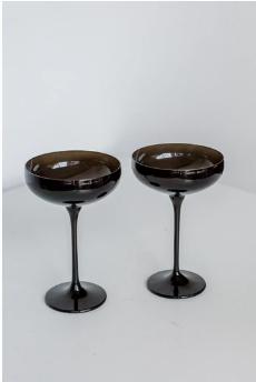 $85.00 Champagne Coupe Black (Set/2)