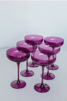 $195.00 Champagne Coupe Amethyst (Set/6)