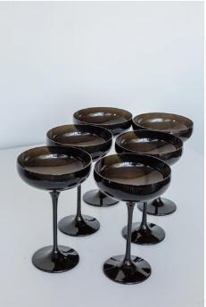 $195.00 Champagne Coupe Black (Set/6)