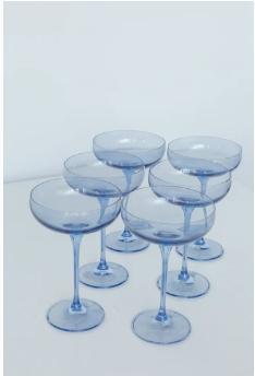 $195.00 Champagne Coupe Cobalt Blue (Set/6)