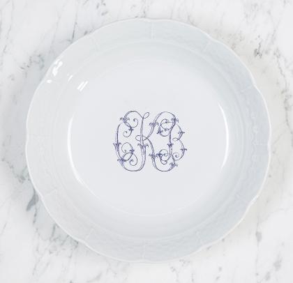 Sasha Nicholas   Weave Cereal Bowl w/Monogram $54.00