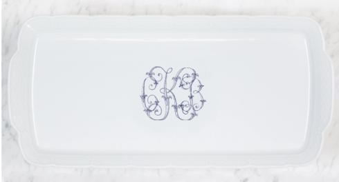 Sasha Nicholas   Weave Rec. Platter w/Monogram $158.00
