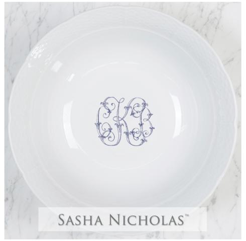 Sasha Nicholas   Weave Lg. Bowl w/Monogram $136.00