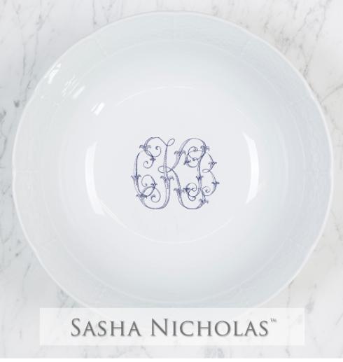 Sasha Nicholas   Weave Med. Bowl w/Monogram $124.00