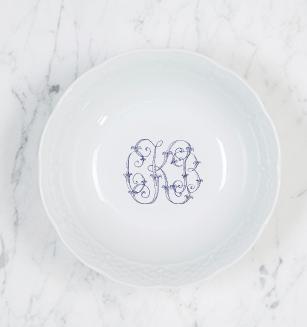Sasha Nicholas   Weave Petite Bowl w/Monogram $30.00