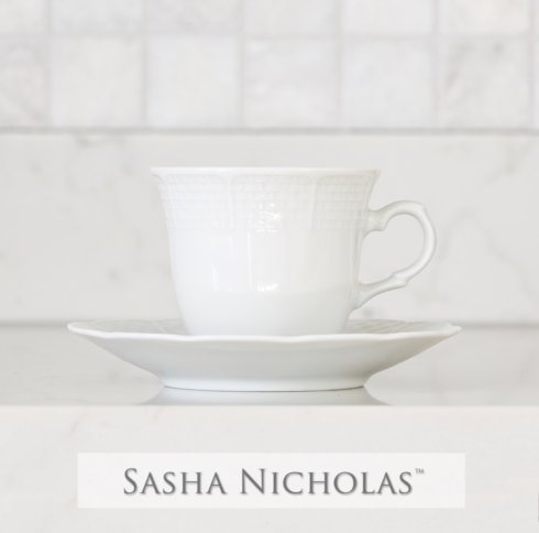 Sasha Nicholas   Weave Cup & Saucer - No Decoration $24.00