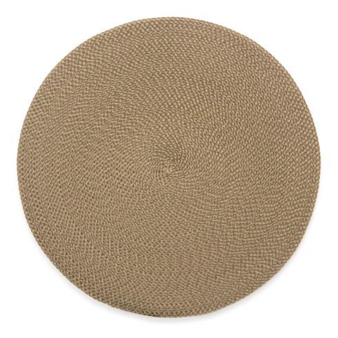 $19.00 Cream/Dust Round Placemat