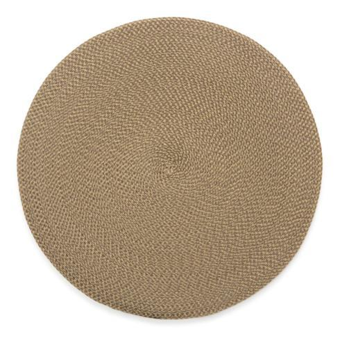 "Deborah Rhodes   Cream Dust 15"" Round Placemat $20.00"