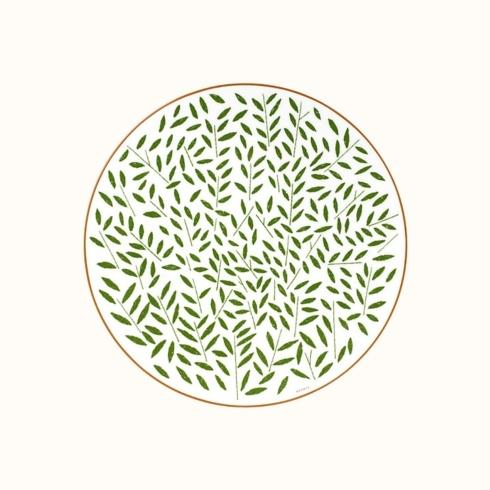 Hermés   A Walk In The Garden Dinner Plate - Green $160.00