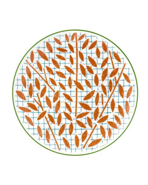 $125.00 A Walk In The Garden Dessert Plate - Orange