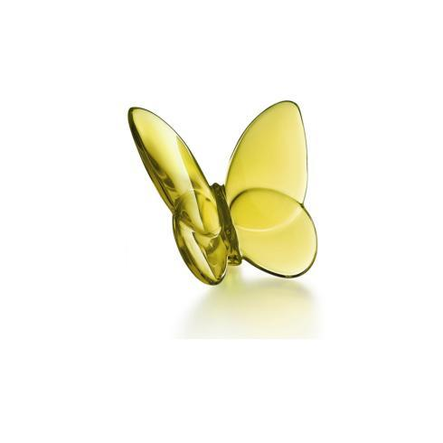 Baccarat   Butterfly Amber  $140.00