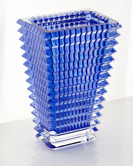 $750.00 Eye Vase - Small Rectangular Blue
