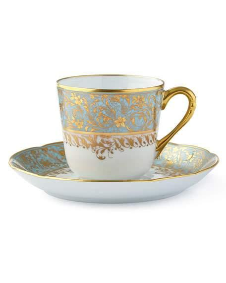 $270.00 Eden Turquoise Coffee Cup & Saucer