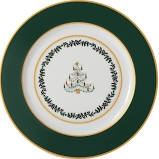 $65.00 Grenadiers Accent Salad Plate Green Band Tree