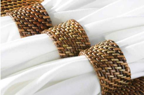 Calaisio   Woven Napkin Ring Set of 4 $20.00