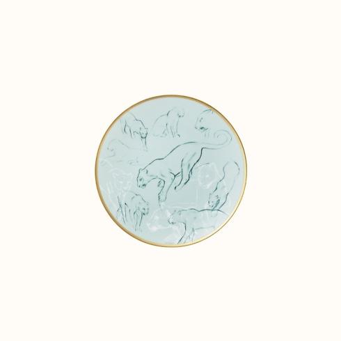 Hermés   Carnets d\'Equateur Bread & Butter Plate Feline Theme $130.00