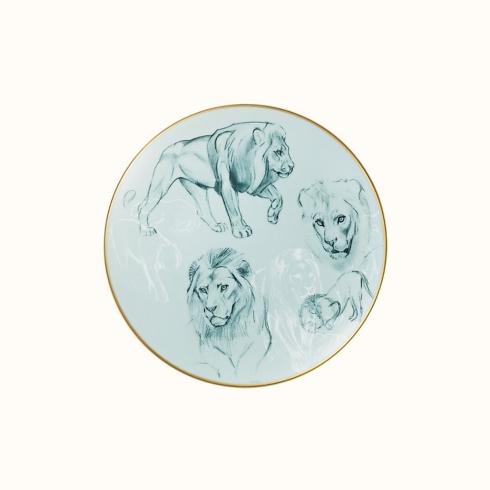 Hermés   Carnets d\'Equateur Dessert Plate Lion Theme $155.00
