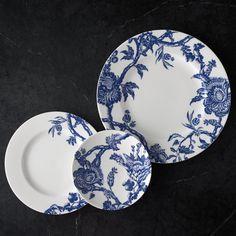 Caskata   Blue Arcadia Rimmed Dinner Plate $35.00