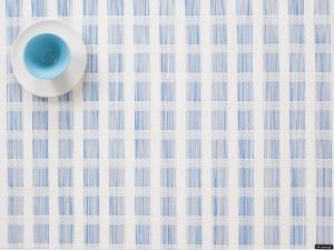 $18.00 Stitch Rectangular Placemat Lake Blue