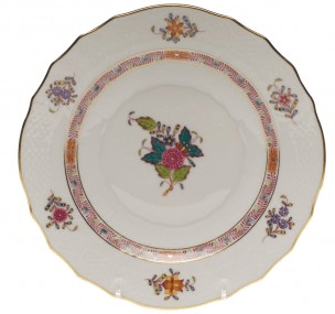 Ivy House Exclusives   Chinese Bouquet Multicolor Dessert Plate $126.50