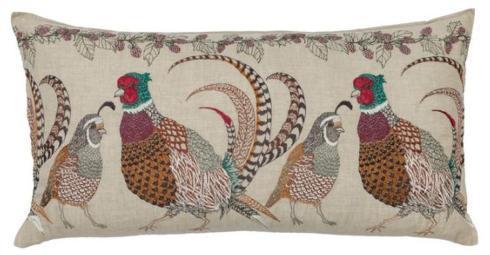 $288.00 Pheasant & Quail Lumbar Pillow