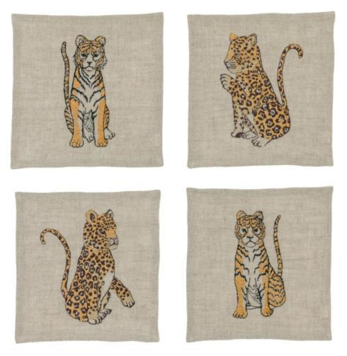 Coral and Tusk   Jaguars & Tigers Cocktail Napkins -Set of 4  $80.00
