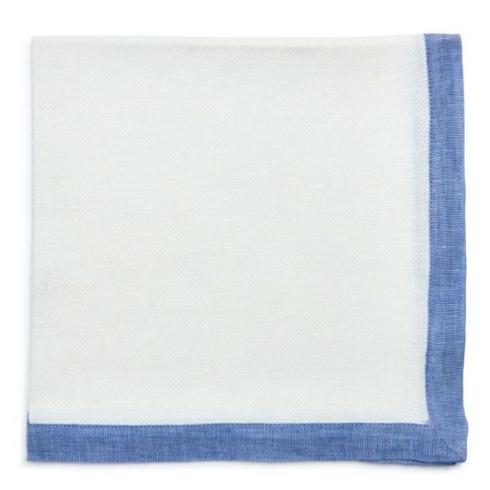 Deborah Rhodes   Newport Border Pique  Napkin S/4 Colony Blue  $140.00