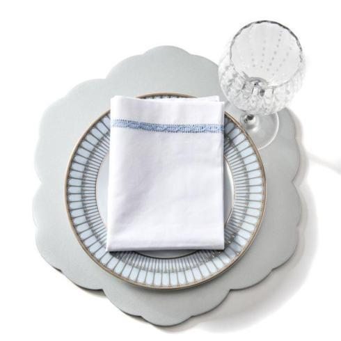 French Blue Lace Insert Napkins - S/4 collection with 1 products
