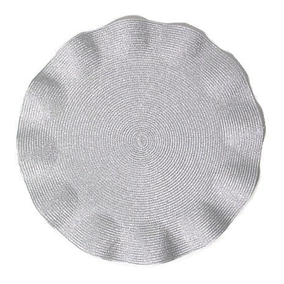 Pewter Lurex Ruffle Edge Placemat  collection with 1 products