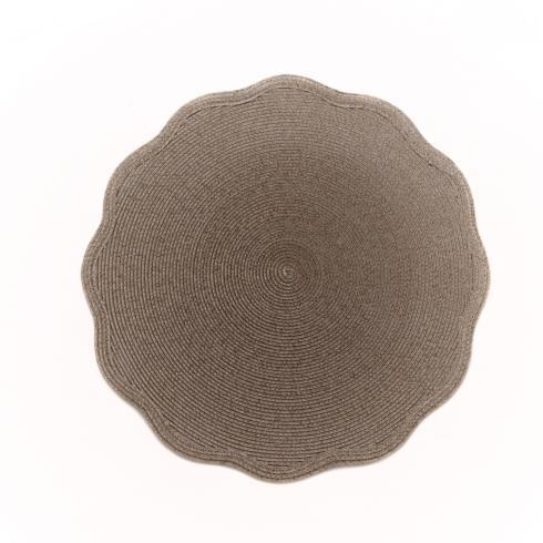 Taupe Round Scallop Placemat collection with 1 products