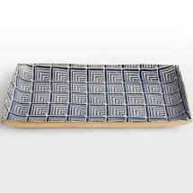 $145.00 Medium Stacking Tray - Cobalt Deco