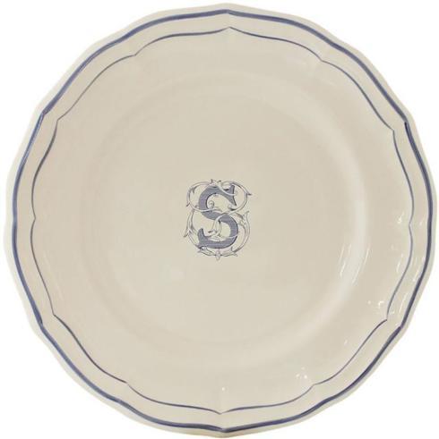 "Ivy House Exclusives   Filet Bleu Monogram ""S"" Dinner Plate $55.00"