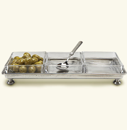 $370.00 Footed Crudite Tray