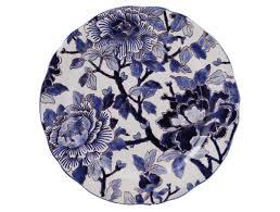 Ivy House Exclusives   Gien Pivoines Bleues Dessert Plate $230.00