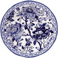 Ivy House Exclusives   Gien Pivoines Bleues Dinner Plate $270.00